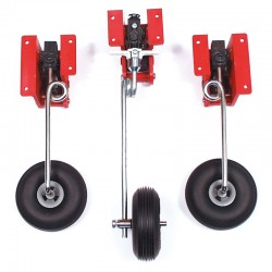 Set of Three Mechanical Retracts with Steerable Noseleg