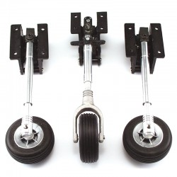 Set of three Spring Retracts with Telescopic Legs, Steerable Nose