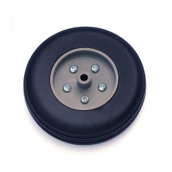 Pair of Rubber Wheels, Nylon Rim ø mm.80