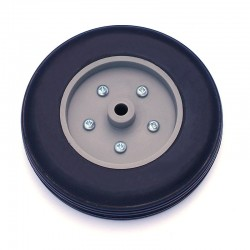 Pair of Rubber Wheels, Nylon Rim ø mm.90
