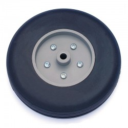 Pair of Rubber Wheels, Nylon Rim ø mm.100