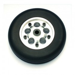 Pair of Rubber Wheels, Aluminium Rim, ø mm 90