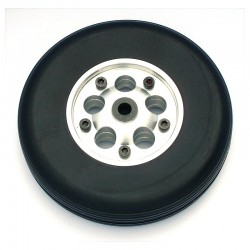Pair of Rubber Wheels, Aluminium Rim, ø mm.100