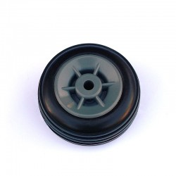 Pair of Rubber Wheels, Nylon Rim ø mm.40