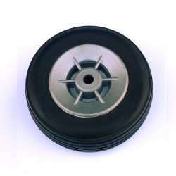 Pair of Rubber Wheels, Nylon Rim ø mm.50