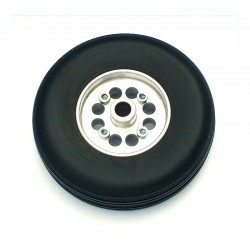 Pair of Rubber Wheels, Aluminium Rim, ø mm.85