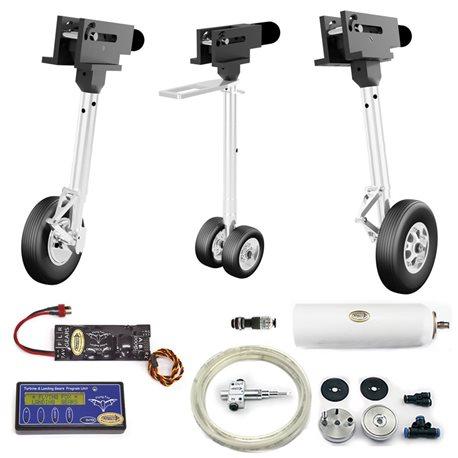 Kit carrelli elettrici con freni ad olio per Rafale scala 1/6